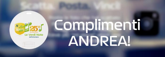 Complimenti Andrea!