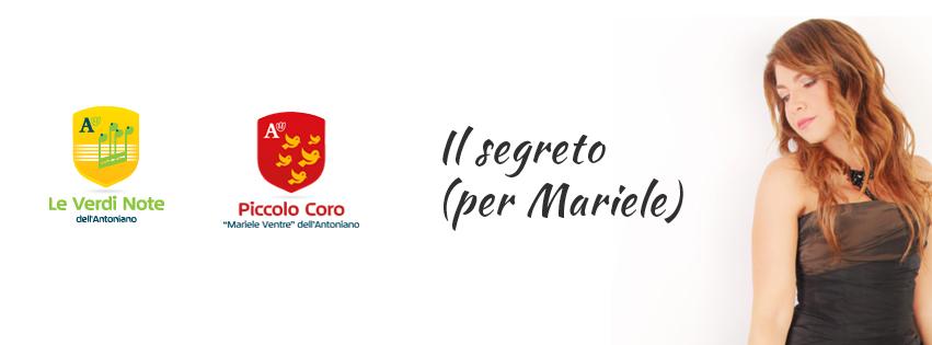 """Cristina D'Avena, Piccolo Coro e Verdi Note cantano l'inedito """"Il segreto (per Mariele)"""""""