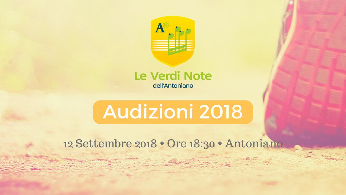 12 Settembre 2018: audizioni per entrare nel coro Le Verdi Note dell'Antoniano